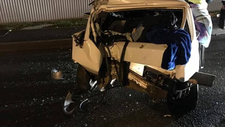 Машина в хлам: на севере Уфы произошло серьезное ДТП