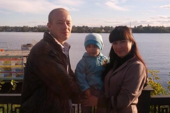 Вадим с родителями