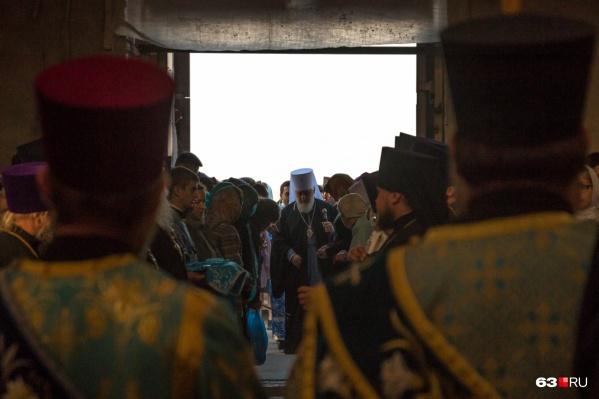 Первую службу в храме провели 22 сентября