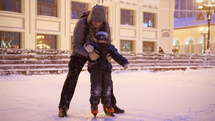 Где покататься на коньках в Уфе: первые катки уже готовы для веселья