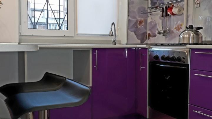 Дизайн по Pantone: оттенки фиолетового на кухне-хамелеоне