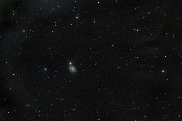 Снимок сделан при выдержке 1,5 часа с помощью телескопа Тал 75
