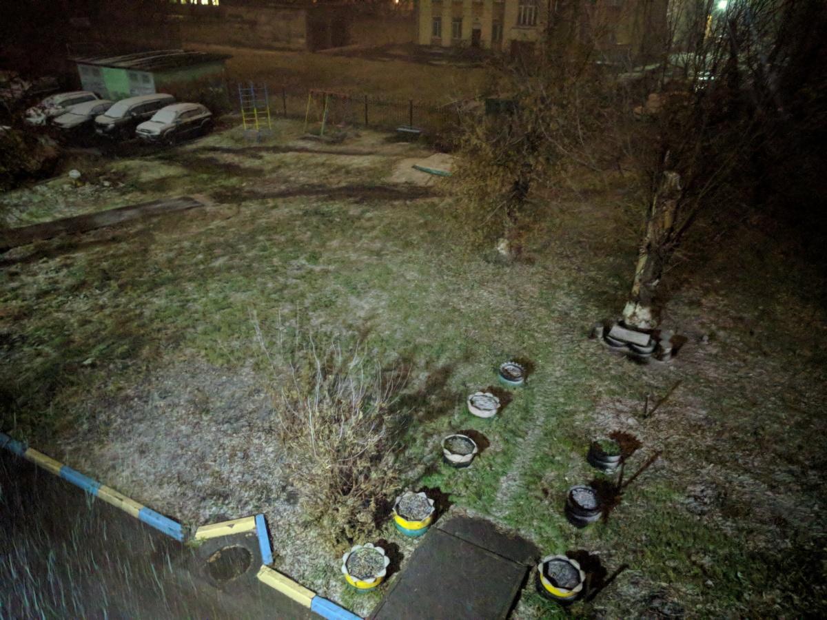 В Новосибирске выпал мокрый снег