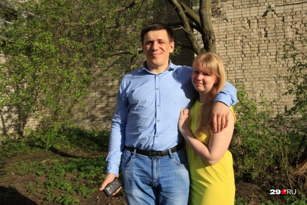 Активист Андрей Боровиков и его супруга Дарья