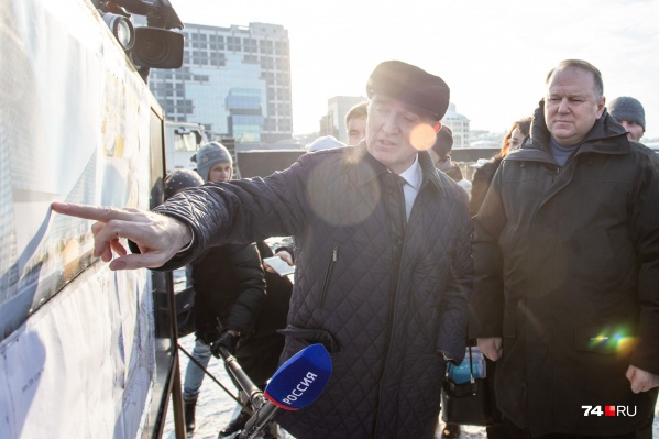 Губернатор Борис Дубровский рассказал Николаю Цуканову о том, что мечтает сделать в общественно-деловом центре