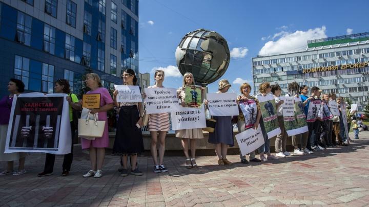 Живодёру — максимальный срок: новосибирцы устроили пикет против убийцы собаки в «Матрёшкином дворе»