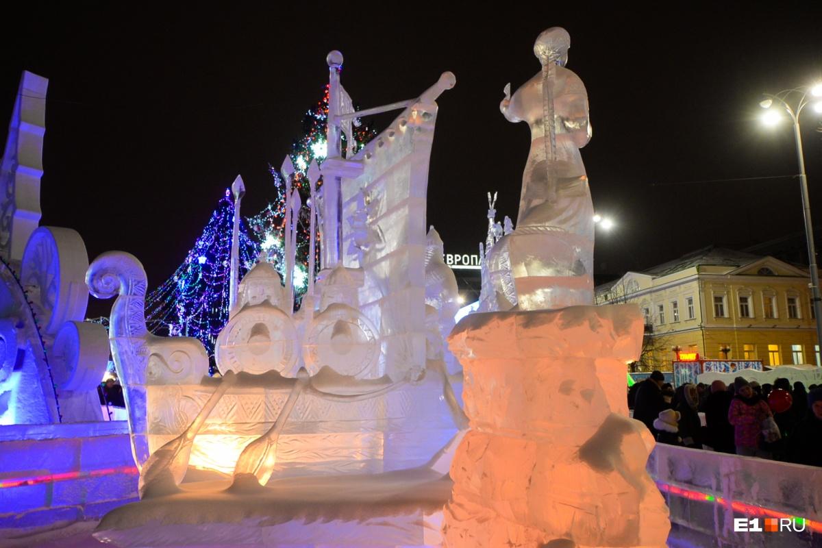 В этом году тематика ледового городка — сказы Бажова
