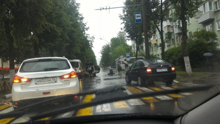 Маршрутка в остановке, пешеход на дороге: в Ярославле сбили человека