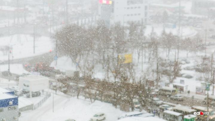 Снег, метель и мороз: в ночь перед Рождеством самарцев ждёт суровая погода