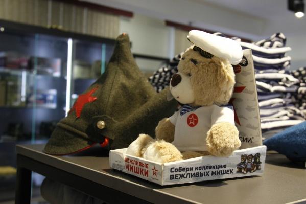 Большая часть товаров в магазине «Армия России» имеет к военной службе весьма смутное отношение