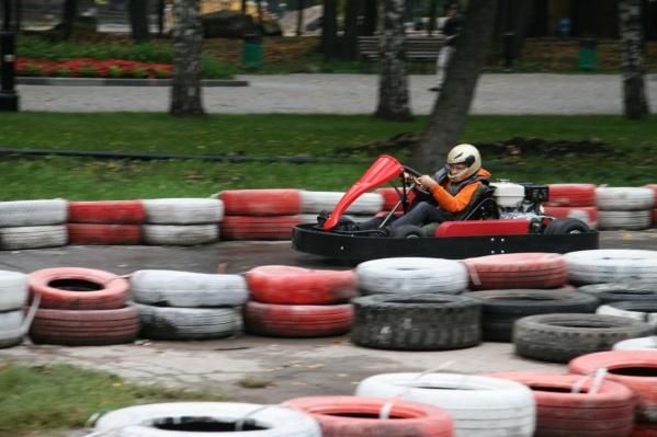 Картингом в парке Гагарина занимаются более 80 детей (по данным руководства клуба «Шойхер»)