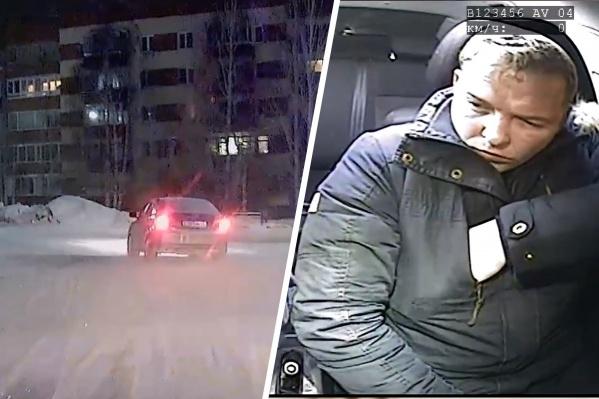 После погони водитель уверял, что не управлял машиной