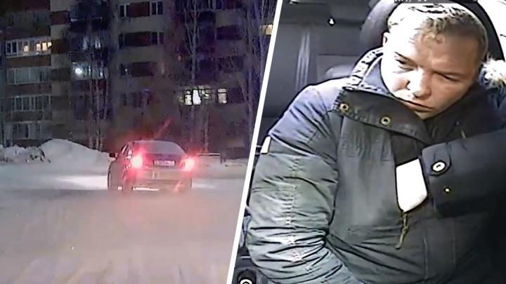 В Асбесте пьяный водитель въехал в дерево, удирая от ГИБДД: огненное видео погони