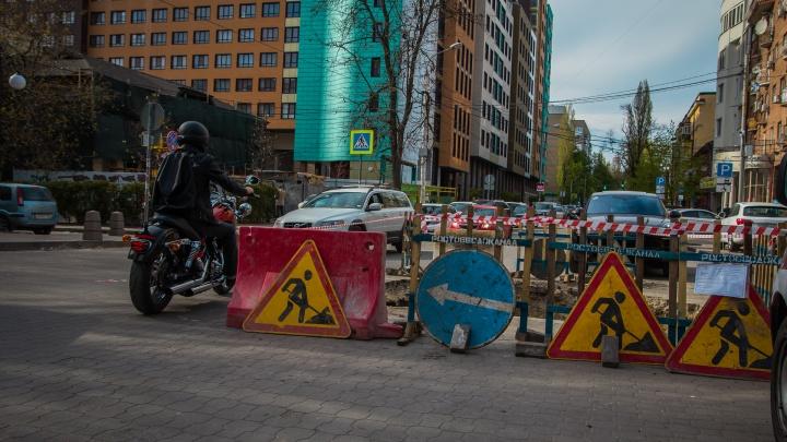 На трех улицах в Ростове в августе ограничат движение