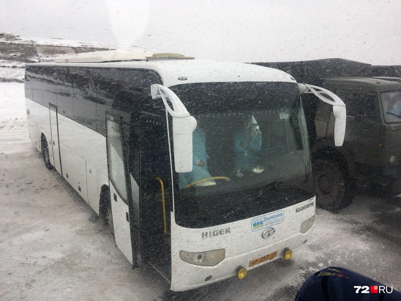 Автобусы, на которых будут перевозить пассажиров