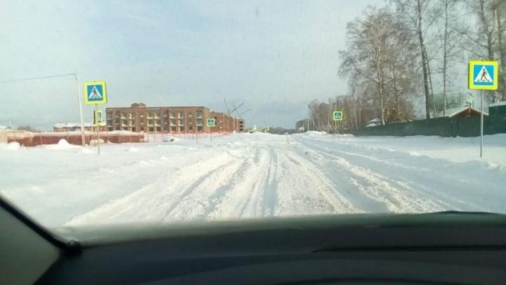 Отрезаны от цивилизации: дорогу к инновационному посёлку под Академгородком засыпало снегом