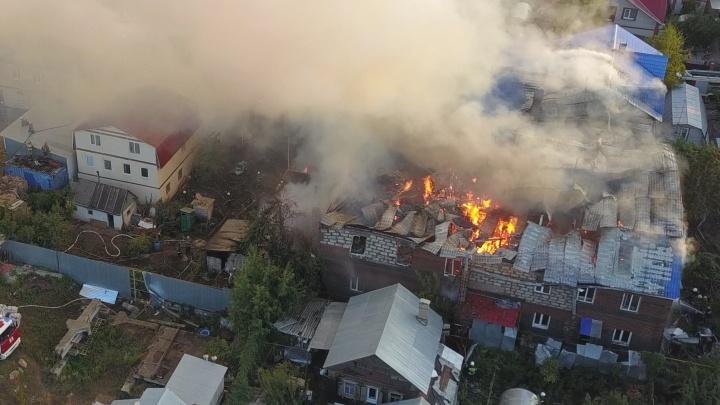 Стала известна причина крупного пожара у Южного моста