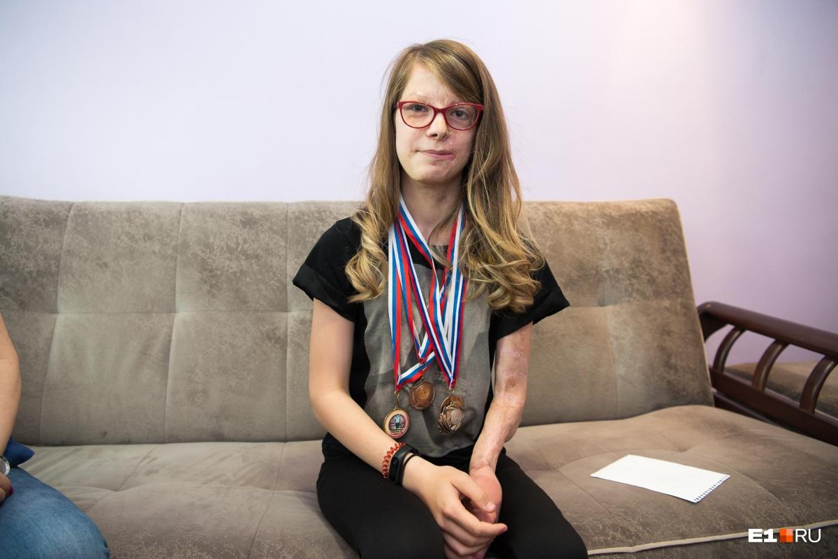 Алина — победитель эстафет, соревнований, занималась беговыми лыжами