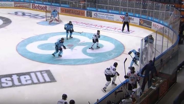 Хоккейная «Сибирь» вырвала победу у финской команды в товарищеском матче