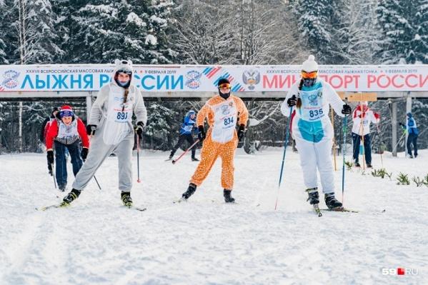 Лыжные соревнования проходят в Перми не первый год: это фото сделано в 2019-м
