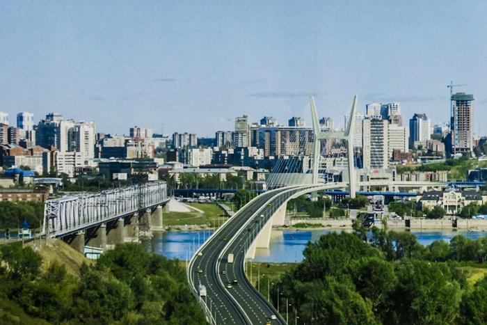 Эскиз четвертого моста через Обь