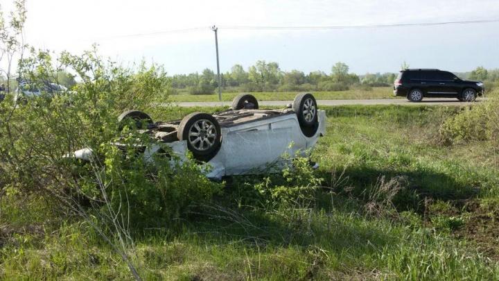 Под Уфой перевернулся автомобиль: пострадала четырехлетняя девочка