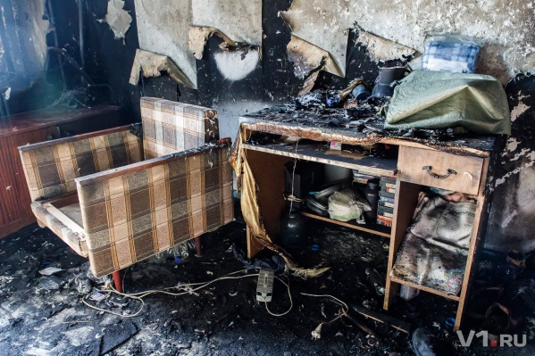 Дом загорелся от неисправности печи