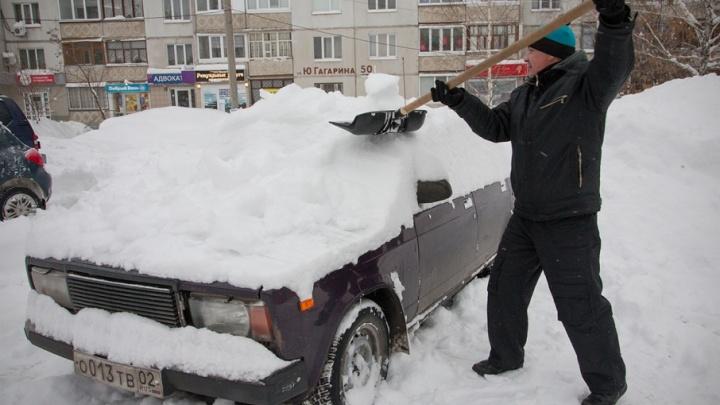 Из дворов Уфы вывезут снег, а крыши очистят от наледи