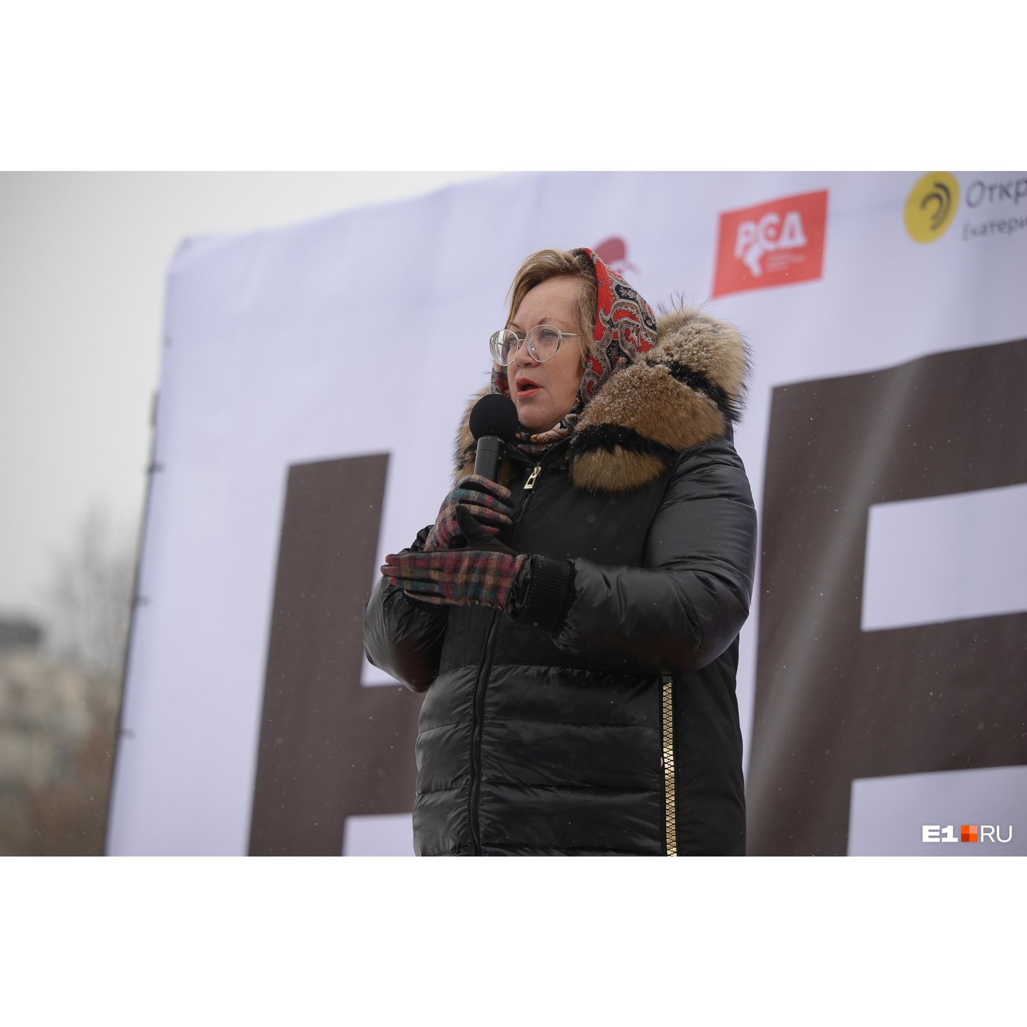 Омбудсмен Татьяна Мерзлякова выступила со сцены