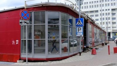 Фотофакт: у ТРК «Колизей-Cinema» в центре Перми начали сносить павильоны