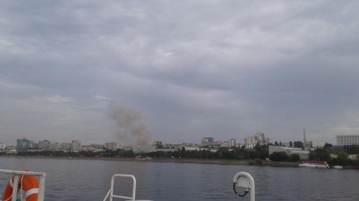 В Самара на Маяковском спуске горел ресторан «Чайка»