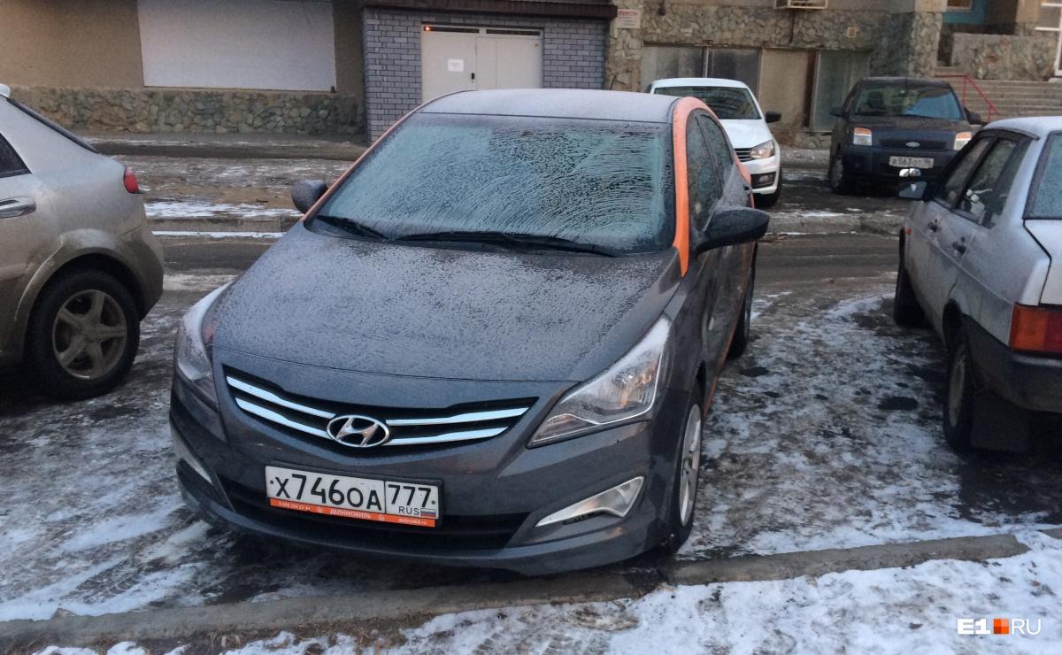 Моя машина была припаркованау магазина на углу Гурзуфская – Радищева