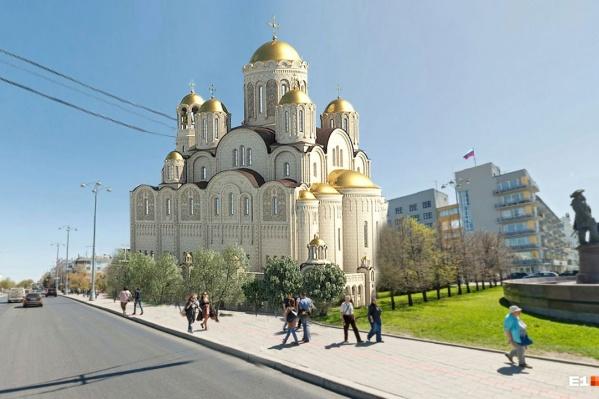Так собор мог бы выглядеть на площади Труда