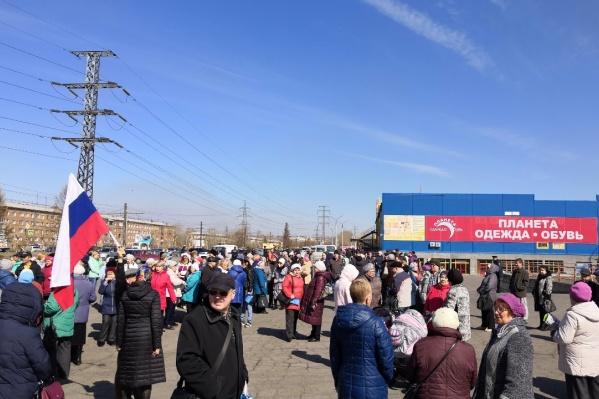 Жители вышли на митинг против огромных счетов в платёжках