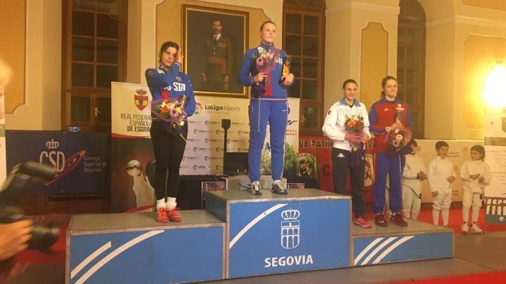 Новосибирская саблистка стала лучшей на соревнованиях в Испании