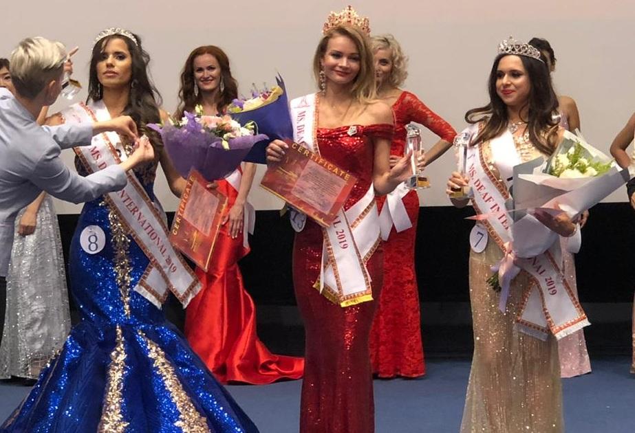 В борьбе за корону победительницы Кристина Гончарук (в центре) обошла соперниц из девяти стран<br>