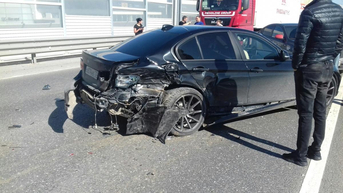 Немецкой машине досталось два удара