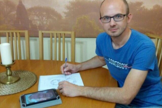 Даниил Кормилицин рисует всего два года, но работы у него получаются классные