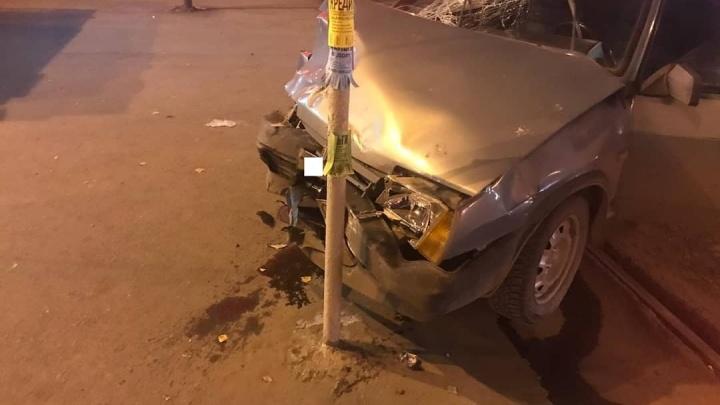 Выпил и пролетел на красный: в Уфе водитель на ВАЗ-2109 устроил ДТП