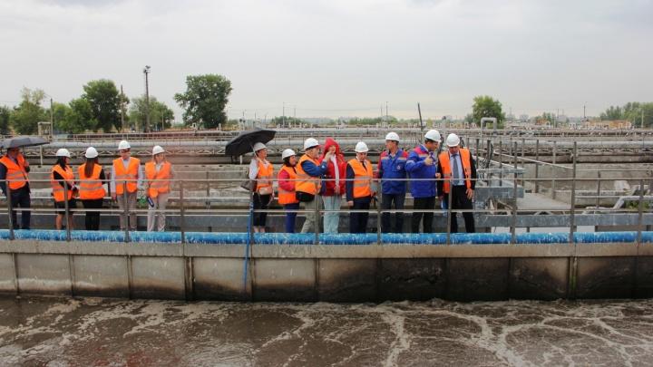 Министр энергетики и ЖКХ региона посетил городские очистные канализационные сооружения