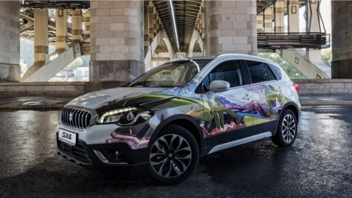 SUZUKI SX4 в стиле стрит-арт: абсолютно новый подход к дизайну автомобиля