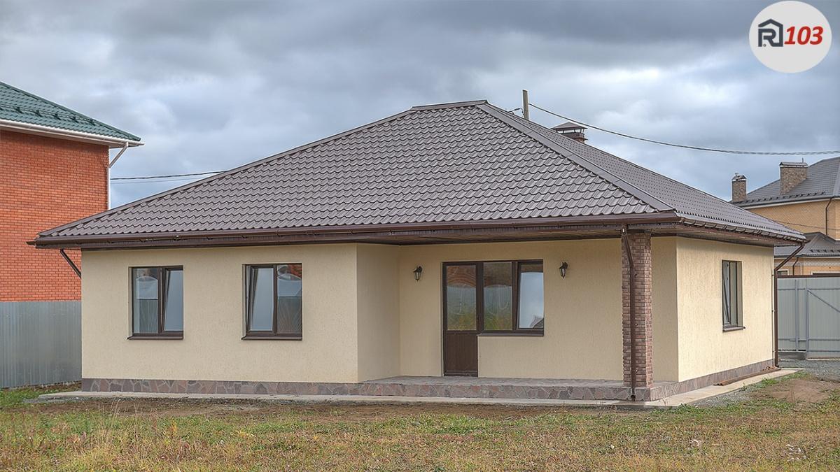 Одноэтажный дом 103 кв. м, чистовая отделка, газ, с. Косулино — можно купить до 30 июля со скидкой 500 000 руб.