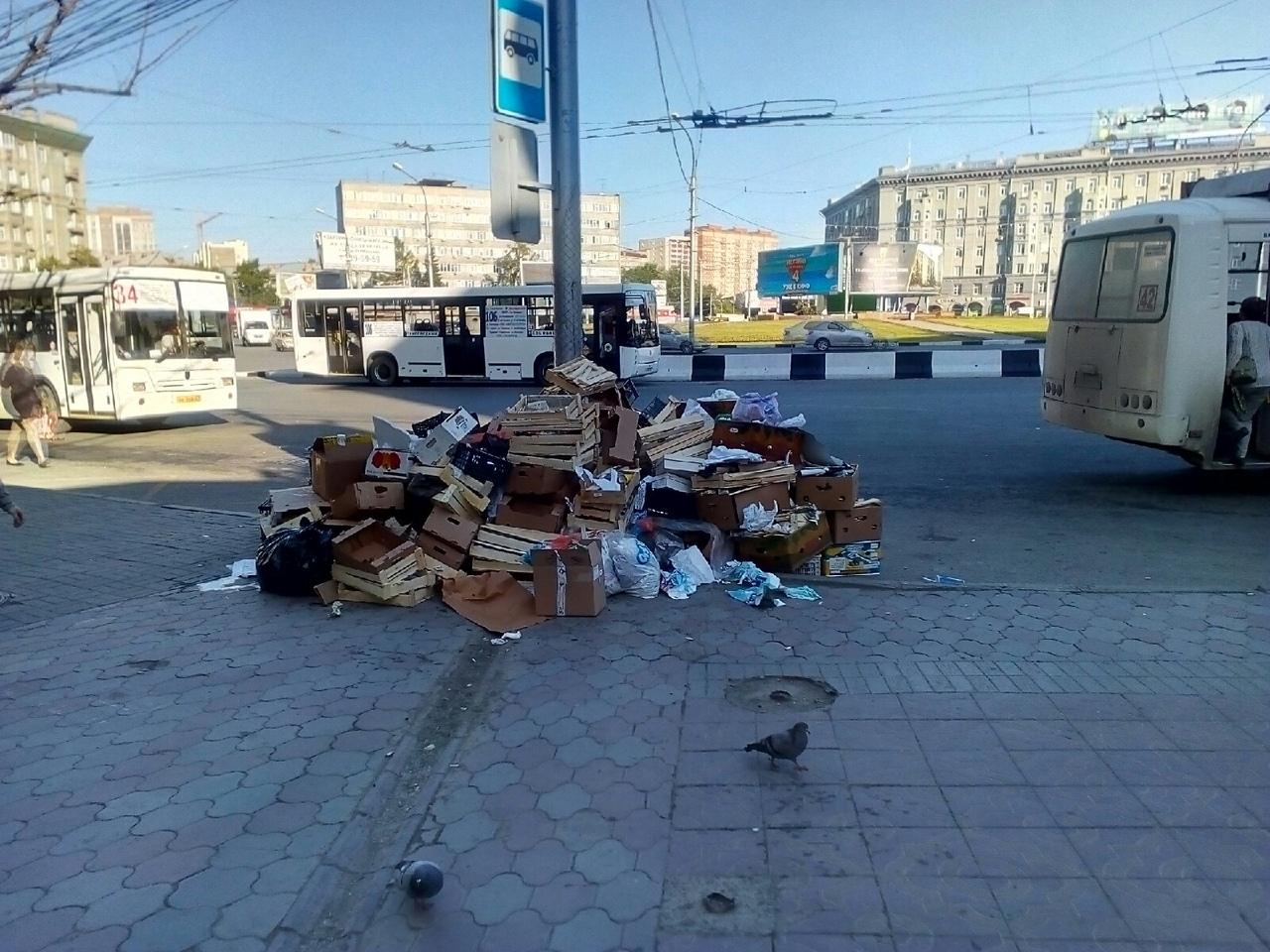 При этом поблизости не было ни уборщиков, ни мусоровоза