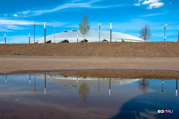 Потоки воды будут стекаться с территории стадиона