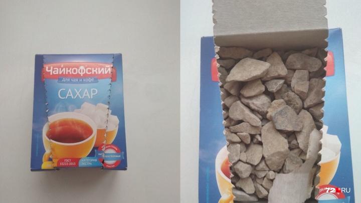 К делу о камнях вместо сахара подключился завод-производитель. Магазин убрал из продажи всю партию