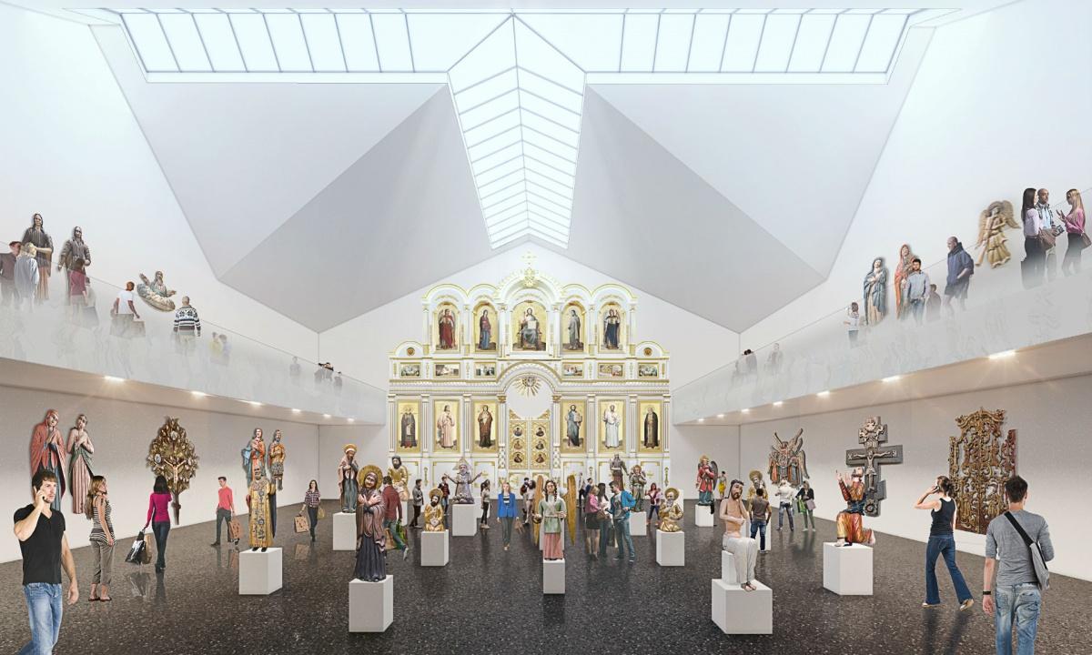 На четвёртом этаже галереи разместятся «Пермские боги»