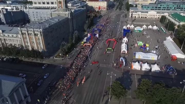Эпичный старт марафона «Европа-Азия» сняли с высоты