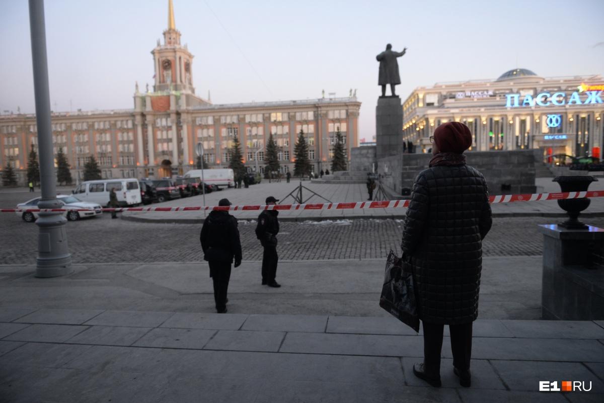 Людей на Ленина не пускают