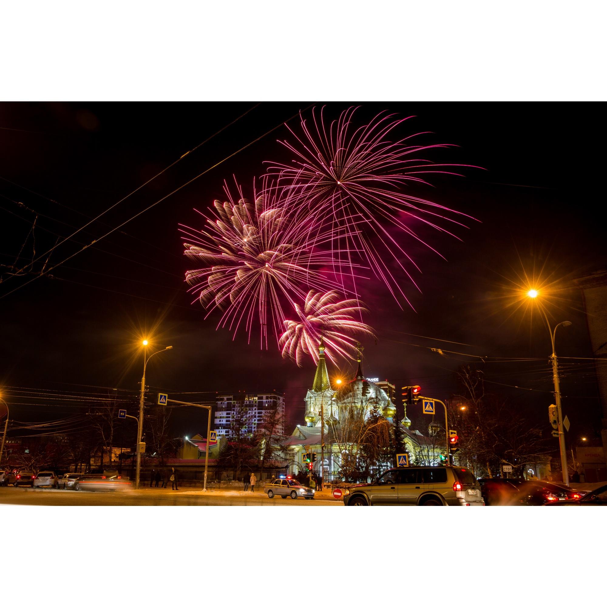 Салют был организован Новосибирской епархией
