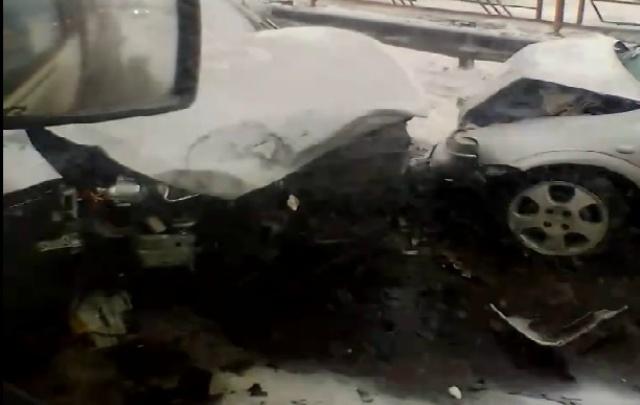 В Кургане при столкновении пяти машин пострадали шесть человек